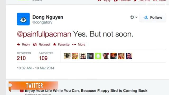 News video: Will 'Flappy Bird' Return To App Stores?